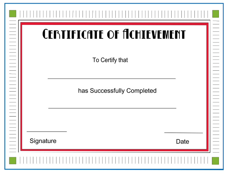 Certificate Achievement Template Word Pic Certificatestreet Com E3mcsIF9
