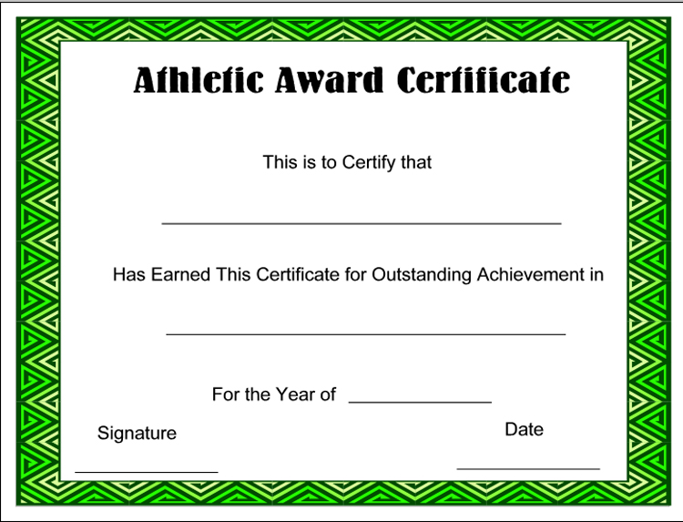 Sports certificate templates yelopaper Choice Image