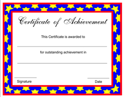 Free Achievement Certificate Templates