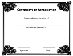 downloadable certificate of appreciation