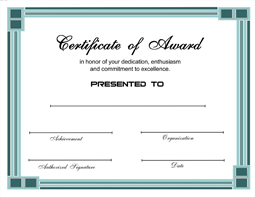Click Here To Downoad ...  Award Certificate Format