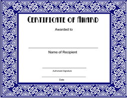 Free printable award certificate template certificatetemplate click here to downoad yadclub