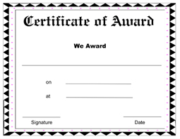 Free Printable Award Certificate Template ...