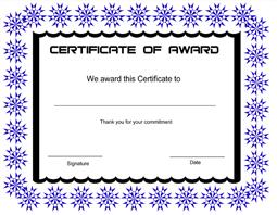 free award certificate templates .