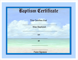 Free Printable Baptism Certificates - CertificateTemplates.NET