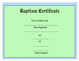 free printable baptism certificates blank template