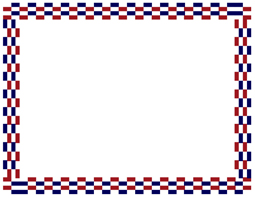 Certificate Border with red and blue boxes