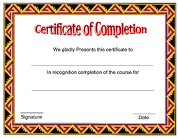 free downloadable certificate of completion