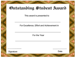 printable achievement certificate templates .
