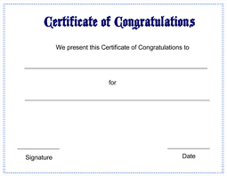 free printable congratulations certificate template