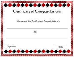 Free Printable Congratulations Certificate Template ...