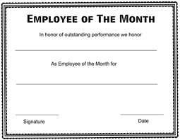 picture about Printable Employee of the Month Certificates named Staff Award Certification Templates - CertificateTemplate.Website