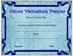 Printable sports award certificate templates certificatetemplate click here to downoad yadclub Images