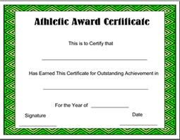 Sports Certificate Templates